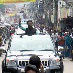 সাইফুজ্জামান সোহেলের মোটরসাইকেল শোভাযাত্রা