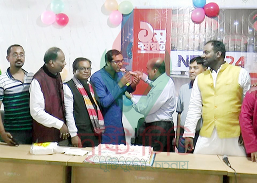 টাঙ্গাইলে নিউজ ২৪-এর প্রতিষ্ঠা বার্ষিকী পালন